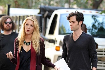 Blake Lively Penn Badgley  Penn Badgley and Blake Lively Film 'Gossip Girl'