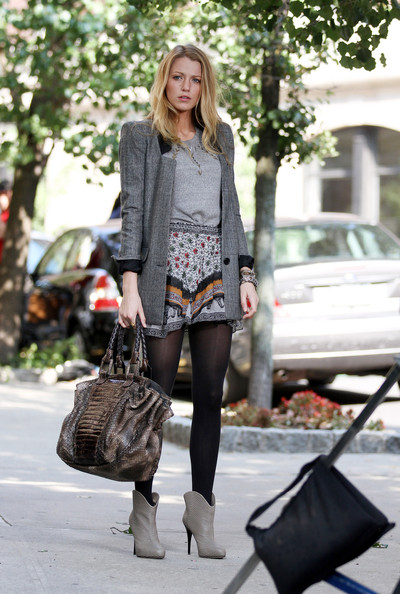 Blake Lively Metallic Shoulder Bag