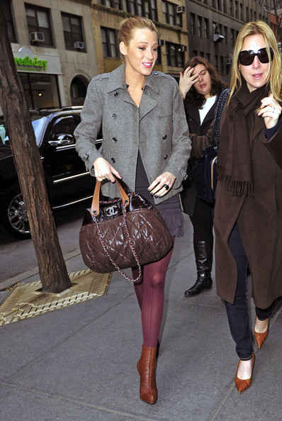 Blake Lively Leather Tote