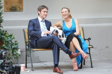 Blake Lively Chace Crawford Blake Lively Films 'Gossip Girl'