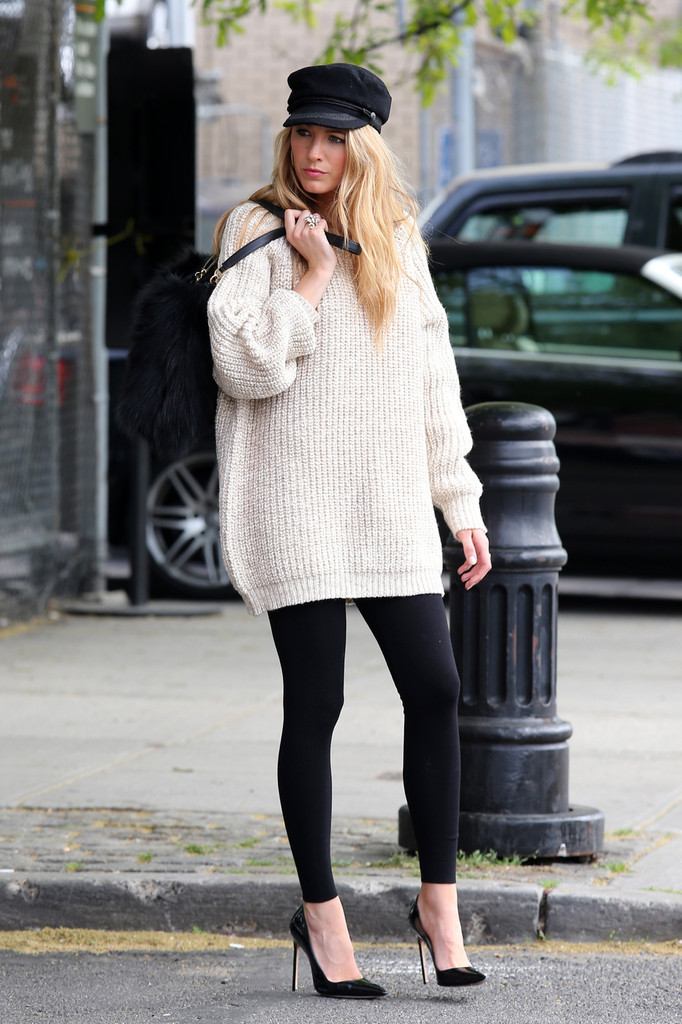 Blake+Lively in Blake Lively seen having a photoshoot in the West Village, New York City