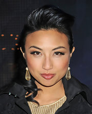 Jeannie Mai turned heads with her towering pompadour during Mercedes-Benz Fashion Week.