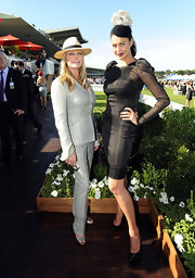 Bo Derek was simple yet classic in a silver pantsuit at the David Jones Derby Horse Race.