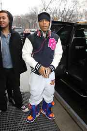 Bow Wow stepped onto the streets of New York City in a thick varsity letterman jacket.