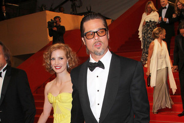Brad Pitt Jessica Chastain Premiere of 'The Tree of Life' at the Palais des Festivals