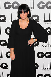 A pregnant Lilly Allen showed off a blunt cut bob and bangs while attending the GQ Men of the Year Award.