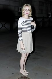 Duffy looks sweet in stripes while at the Ball for the NSPCC in London.