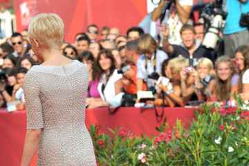 "Michelle Williams Jason Wu Bruce Greenwood at the ""Meek's Cutoff"" Premiere at the Venice Film Festival"