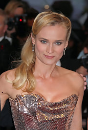 Diane Kruger attended a screening of 'Amour' wearing her hair in an elegant half-up style with long flowing waves.