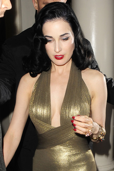 More Pics of Dita Von Teese Moon Manicure (2 of 4) - Nails Lookbook - StyleBistro