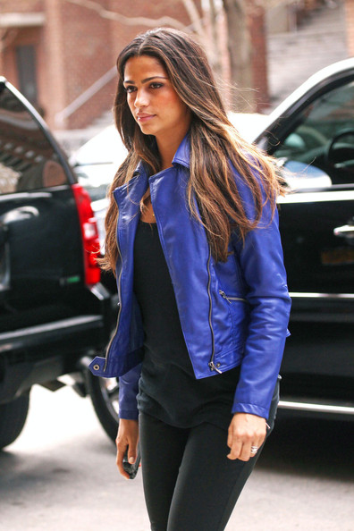 More Pics of Camila Alves Motorcycle Jacket (3 of 6) - Camila Alves Lookbook - StyleBistro