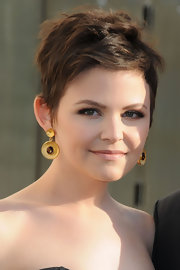 Ginnifer Goodwin wore a pair of large gold and amethyst earrings at the Metropolitan Opera Gala.