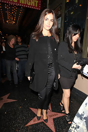 Camilla Belle accented her monochromatic look with black pumps.