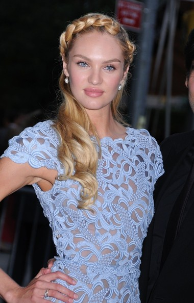 Candice Swanepoel Braided Updo