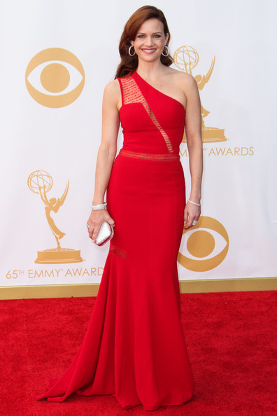 Carla Gugino One Shoulder Dress