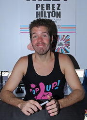 Perez Hilton went to a meet-and-greet looking oh-so-breezy in his tank top.