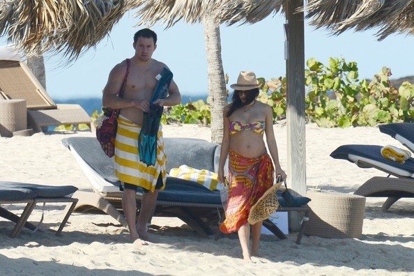 Jenna Dewan and Channing Tatum at the Beach