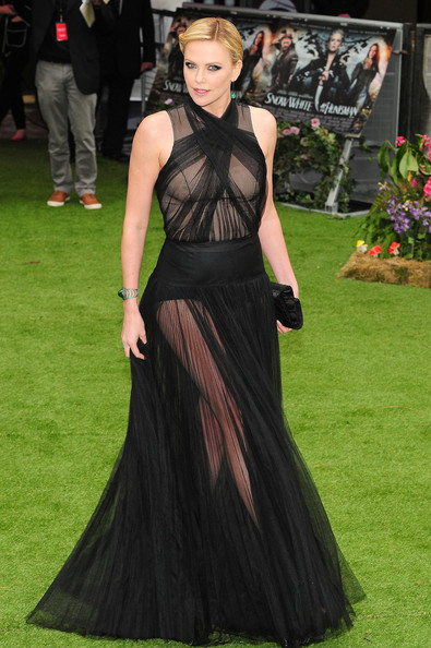 Charlize Theron's Sheer Christian Dior Masterpiece