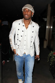 Didier Drogba was a style star in his white military jacket while clubbing in London.