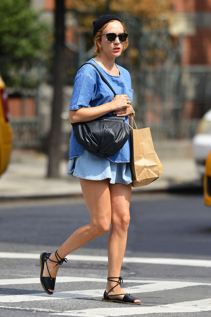 Sunday, August 18, 2013. Chloe Sevigny seen out and about in New York City.