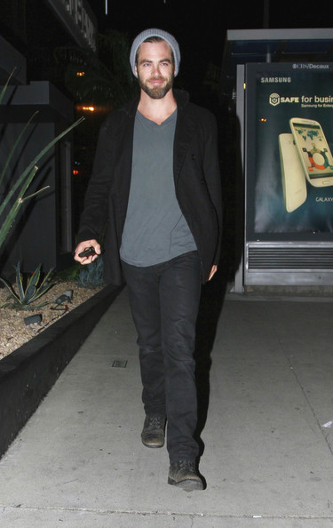 Chris Pine Pea Coat