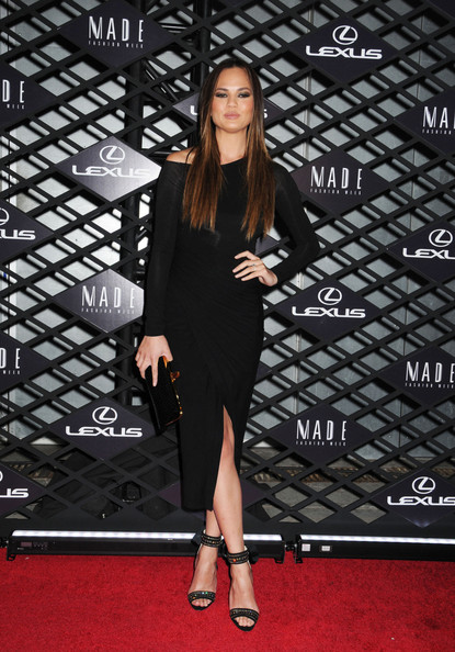 More Pics of Chrissy Teigen Long Straight Cut (1 of 8) - Chrissy Teigen Lookbook - StyleBistro