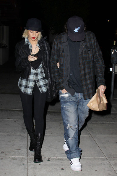 Christina Aguilera Lace Up Boots