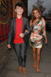 Shobna showcased her fabulous figure in this eye-catching mini dress as she arrived at the Inside Soap Awards in London.