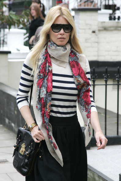 Claudia Schiffer Designer Shield Sunglasses