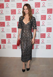 Vanessa Paradis wore a striking avant-garde beaded dress to the Sidaction Gala Dinner.