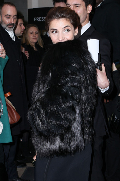 Clotilde Courau Fur Coat []