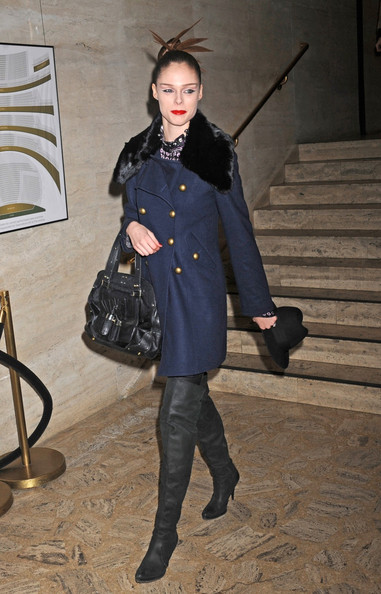 Coco Rocha Wool Coat