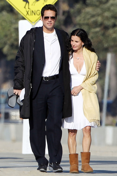Courteney Cox Sheepskin Boots