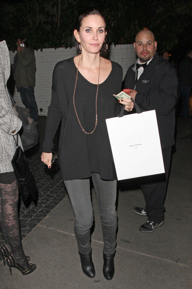 Courteney Cox Leaves the Chateau Marmont