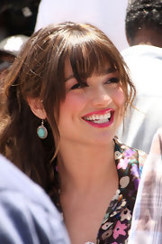 'Teen Wolf' star Crystal Reed paired her fresh look with silver-and-turqouise earrings.