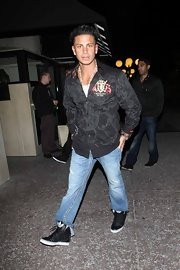 Pauly D. sure loves his high-tops. The 'Jersey Shore' star sported a black Adidas pair out clubbing.