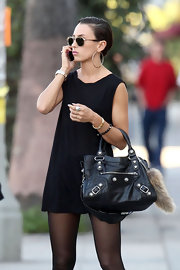 Danish singer Medina was spotted carrying a black tote while roaming around LA.