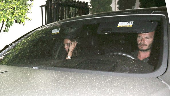 David and Victoria Beckham Out to Eat in Hollywood
