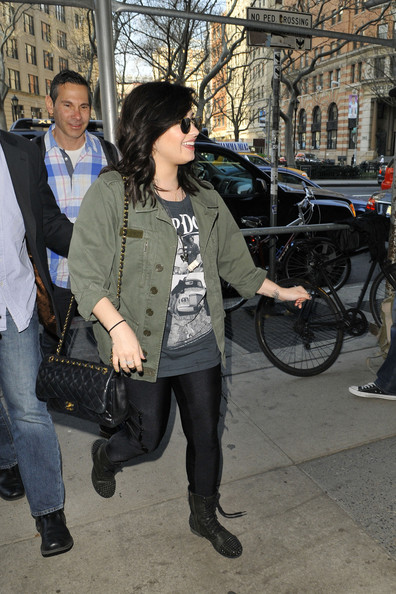 Demi Lovato Studded Boots