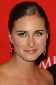 Lauren Bush went for a natural look while attending the Time 100 event. Her slick bun showed off her flawless complexion.