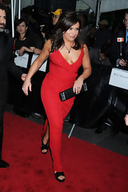Rachael Ray gave her look some glitz with a black crystal-embellished clutch.