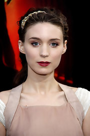 "Rooney Mara showed off her delicate french twist while hitting the red carpet of ""Nightmare On Elm Street"". Her embellished headband was the perfect fit for her hairdo."