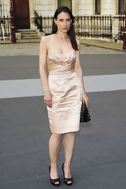 Claire Forlani looked elegant and stylish in this pale pink strapless cocktail dress at The Royal Academy of Arts' Summer Exhibition Preview Party.
