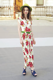 Tali Lennox showed off her Spring style in a flowy floral print day dress while out and about in London.