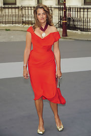 Tracey looked lovely in a red fitted cocktail dress for the Royal Academy of Arts party.