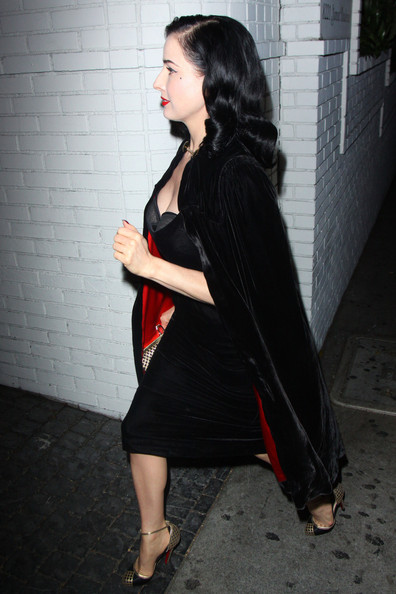 Dita Von Teese Out Late in Hollywood