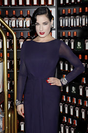 Dita Von Teese's nails were a perfectly pure shade of crimson at the Cointreau Liqueur event in Madrid.