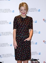 Sheridan Smith looked adorable in a print dress with pockets at the BFI London Film Festival.