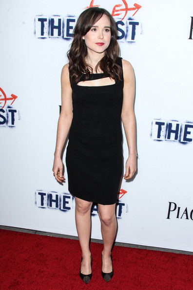 Elliot Page Little Black Dress [the east,clothing,dress,shoulder,shoe,flooring,red,joint,premiere,human leg,style,shoe,actor,musician,elliot page,celebrity,shoulder,los angeles,arclight hollywood,premiere,alexandra daddario,downton abbey,actor,celebrity,mail.ru,musician,michelle dockery]