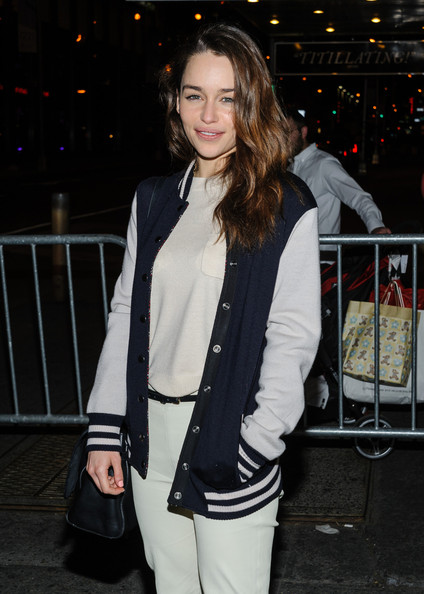 More Pics of Emilia Clarke Track Jacket (1 of 8) - Emilia Clarke Lookbook - StyleBistro